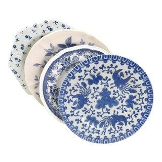 Vintage Mismatched China Dessert Plates - Set of 4 For Sale