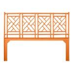 Chippendale Headboard King - Orange