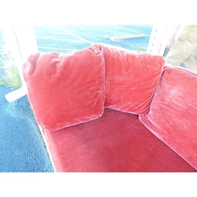 Baker Furniture Co. Red Crushed Velvet Sofa - Image 4 of 8