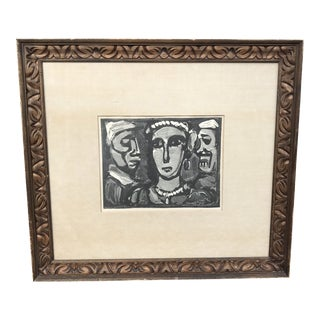 "Vintage Georges Rouault ""Les Visages"" Figurative Portrait Lithograph 1932 For Sale"