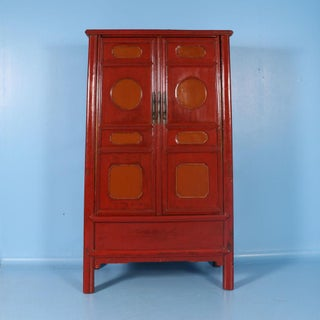 19th Century Chinese Lacquered Cabinet With Original Red/Orange Paint Preview