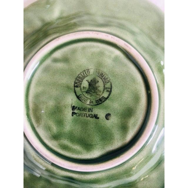 Bordallo Pinheiro Bordallo Pinherio Condiment Bowl With Under Plate For Sale - Image 4 of 11