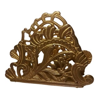 Ornate Brass Letter Holder