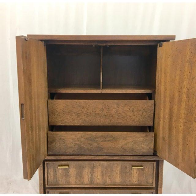 Vintage Mid-Century Brutalist Armoire Dresser - Image 6 of 8
