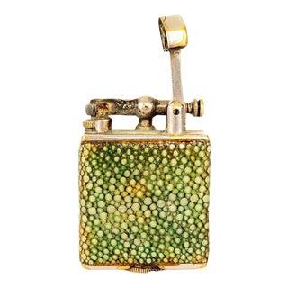 Art Deco Alfred Dunhill England Parker Beacon Efficient Lighter Shagreen For Sale