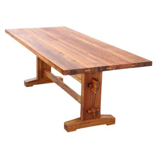 Indoor or Outdoor Dining Table in Solid Teak, Custom Made by Petersen Antiques For Sale
