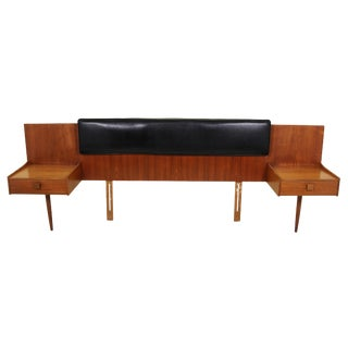 Kofod Larsen Teak Queen Size Headboard For Sale