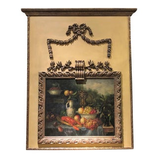 Antique French 19th Century Louis XVI Panel Trumeau. For Sale