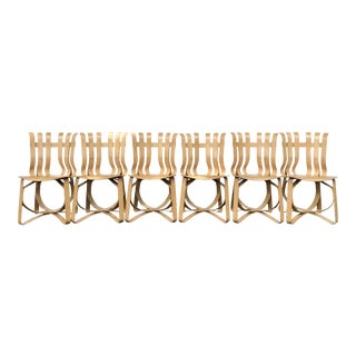 1990s Mid-Century Modern Frank Gehry Hat Trick Chairs - Set of 6 For Sale