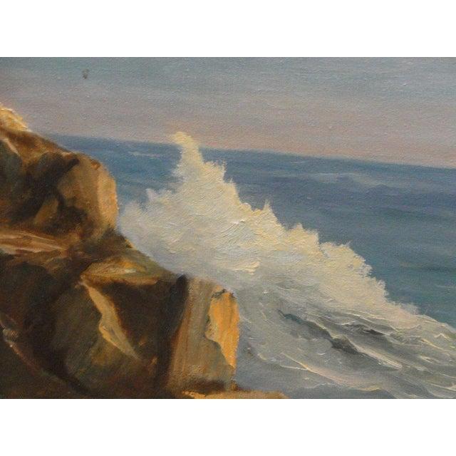 Mid Century Ocean Scene Painting - Image 4 of 10