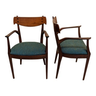 1950s Vintage Kipp Stewart for Drexel Declaration Collection Dining Chairs - A Pair For Sale