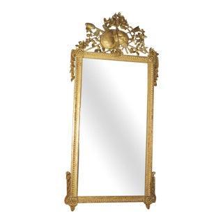 18th Century Louis XVI Gilt Wood Mirror For Sale