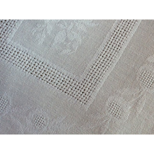 Linen Late 19th Century Antique French Linen Napkins - A Pair For Sale - Image 8 of 10