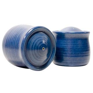 Blue Salt & Pepper Shakers - A Pair