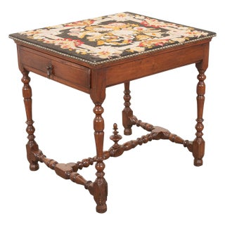 English 18th Century Jacobean Style Oak Side Table For Sale