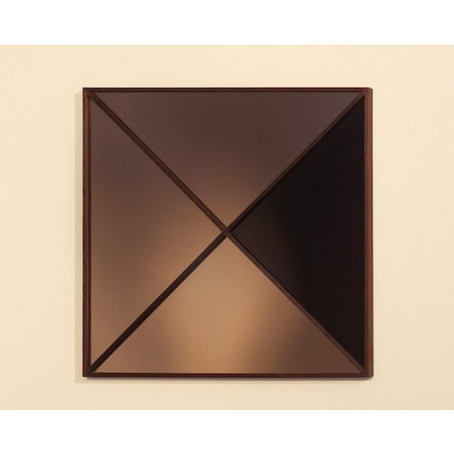 Contemporary Square Constructivist Mirror by Nina Cho For Sale - Image 3 of 3