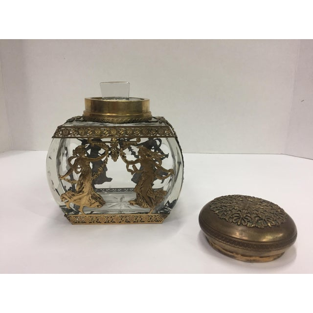 19th Century Baccarat Crystal & Bronze Vessel Dancing Muse For Sale In Atlanta - Image 6 of 12