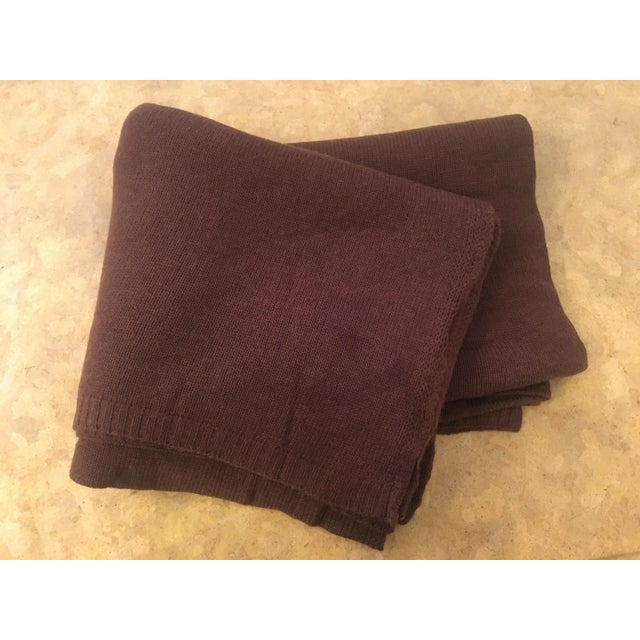 Chocolate Brown Cashmere Blanket - Image 4 of 10
