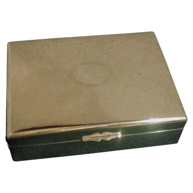 Chinese Export Silver Cigar Box by Hung Chong & Co. For Sale