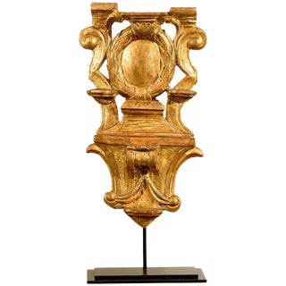 17th Century Gilded Wood Carving on Stand