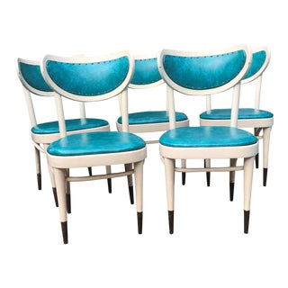Mid Century Modern Danish Dining Chairs - Set of 5 For Sale