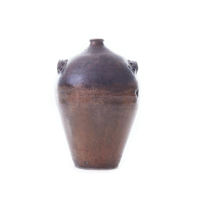 19th Century Handmade Earthenware Wine Jug With Handles For Sale In Chicago - Image 6 of 6
