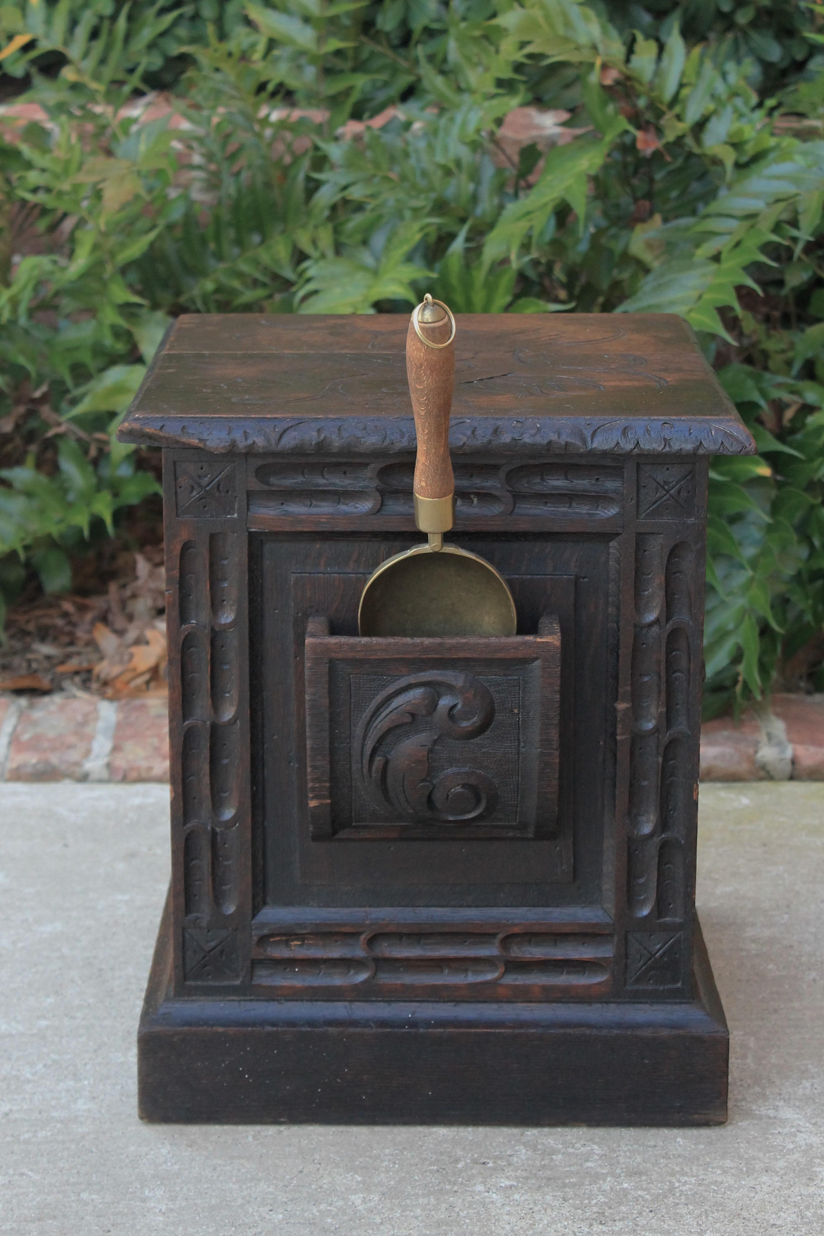 BLUE Coal Hod Scuttle Fuel Wood Fireplace Trendy Metal Bucket Handles Steel