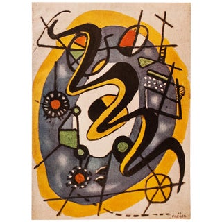 "1948 Fernand Léger Original Period ""Composition"" Lithograph From Paris For Sale"
