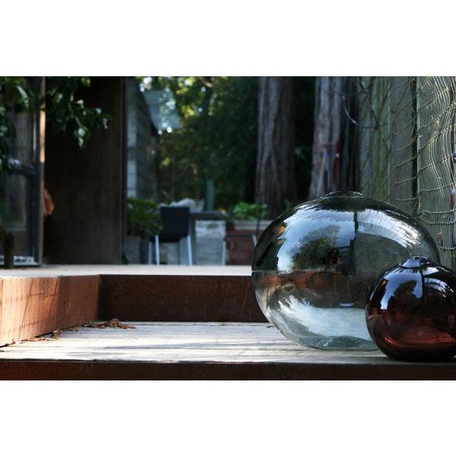 """Amber SkLO Float Glass Vessel 8"""" - Amber For Sale - Image 8 of 10"""