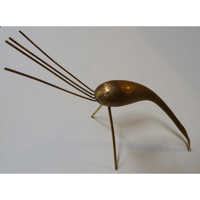 Carl Auböck Austrian Mid-Century Brass Crane By Carl Aubock For Sale - Image 4 of 5