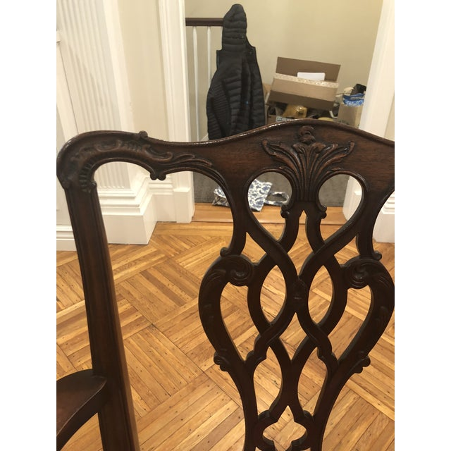 Antique Chippendale Dining Chairs - Set of 10 For Sale - Image 4 of 12