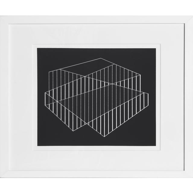 Josef Albers Josef Albers - Portfolio 2, Folder 6, Image 1 Framed Silkscreen For Sale - Image 4 of 4