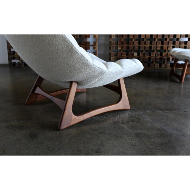 Adrian Pearsall Lounge Chair and Ottoman for Craft Associates Inc., Circa 1960 For Sale - Image 11 of 13