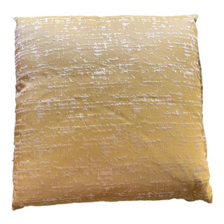 Contemporary Green and Yellow Silk Decorative Pillow For Sale