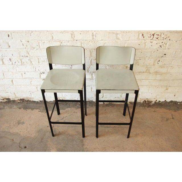 Mateo Grassi Sistina Italian Leather Counter Stools - A Pair For Sale - Image 5 of 8