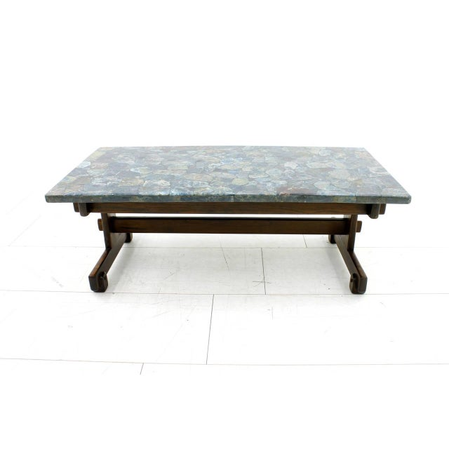Rare Sergio Rodrigues Coffee Table With Apatit Stone Mosaic Top, Brazil 1964 For Sale - Image 10 of 10