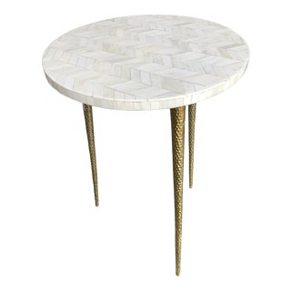 Contemporary Bone Top Texture Table For Sale