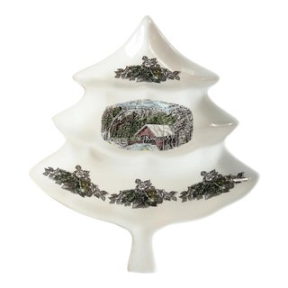 Christmas Tree Serving Dish For Sale