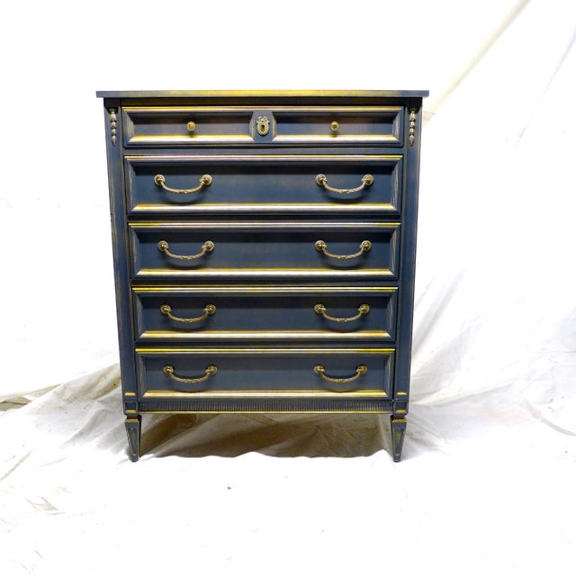 French Style Gray-Blue Painted Dresser - Image 2 of 11