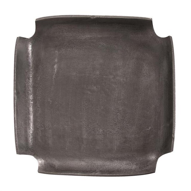 Contemporary Kenneth Ludwig Graphite Aluminum Tray With Notched Corners For Sale - Image 3 of 5