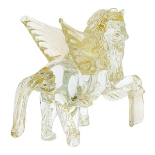 Large Early 20th Century Murano Glass Winged Lion of St. Mark For Sale