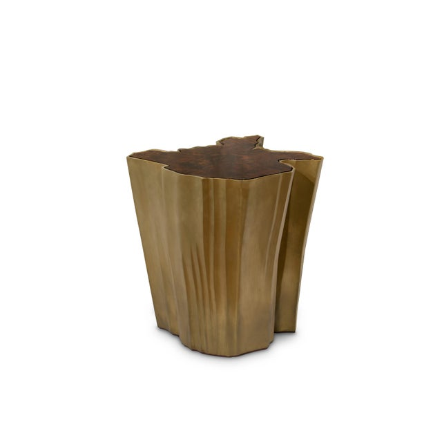 Brass Sequoia Big Side Table From Covet Paris For Sale - Image 7 of 7