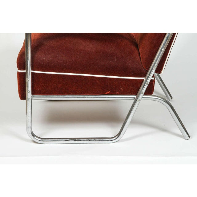 Vintage German Mohair Upholstered Chrome Chair For Sale In Los Angeles - Image 6 of 6