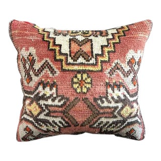 Faded Antique Handmade Turkish Pillow Case