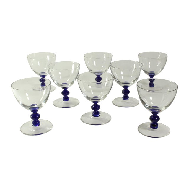 Vintage Art Deco Crystal Aperitif Stemware - Set/8 - Image 1 of 6