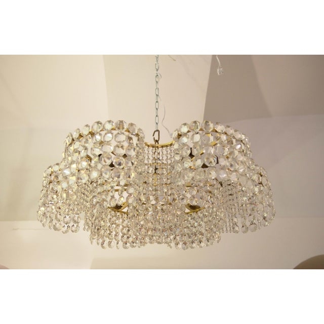 Large Chandelier of Cut Crystal by JL Lobmeyr for Lobmeyr, 1950 For Sale - Image 5 of 11
