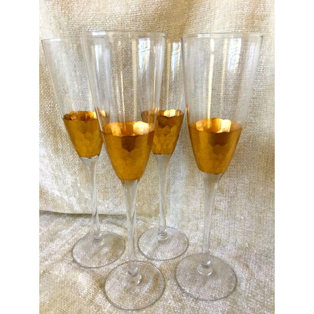 West Elm Honeycomb Pattern Fluted Champagnes Old Fashions 6 Pieces Made by West Elm (A Division of Williams Sonoma) Blown...