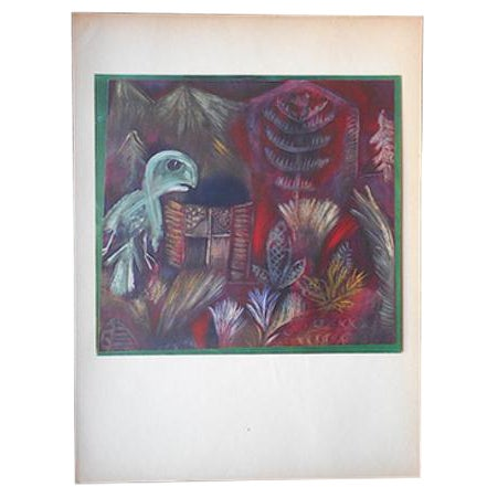 Vintage Klee Mid 20th C. Abstract Collotype For Sale