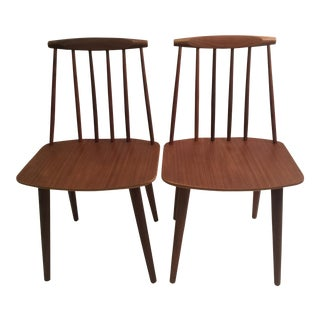Folke Palsson J77 Chairs in Teak for FDB - a Pair For Sale