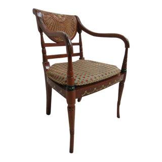 Vintage Italian Double Cane Desk Chair